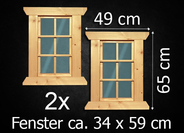 2x fenster holzfenster gartenhaus gartenhausfenster. Black Bedroom Furniture Sets. Home Design Ideas
