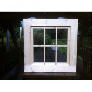 Holzfenster Kippfenster 72 x 72 cm
