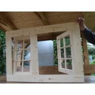Holzfenster Dreh und Kippfenster 103 x 72 cm