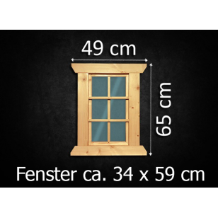 Holzfenster feststehend 34 x 59 cm