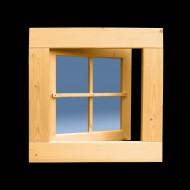 Holzfenster Drehfenster 62 x 62 cm