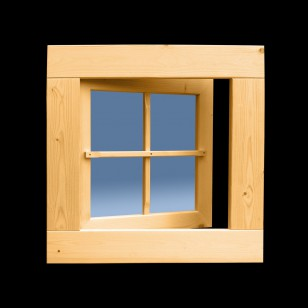 Holzfenster Drehfenster 59 x 59 cm