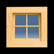 Holzfenster Kippfenster 62 x 62 cm