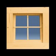 Holzfenster Kippfenster 62 x 62 cm - B-Ware
