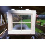 Holzfenster Drehfenster 63 x 63 cm