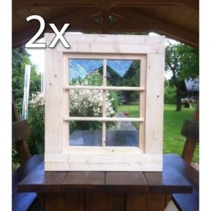 Holzfenster Kippfenster 63 x 72 cm - Doppelpack