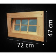 Holzfenster Kippfenster 72 x 47 cm - B-Ware