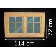 Holzfenster Doppelflügel 114 x 72 cm