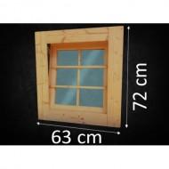 Holzfenster Kippfenster 63 x 72 cm
