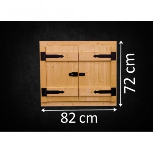 Holzfenster Doppelflügel FL 82 x 72 cm